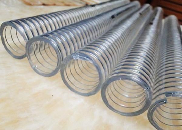 انواع شیلنگ صنعتی شفاف فنردار 110